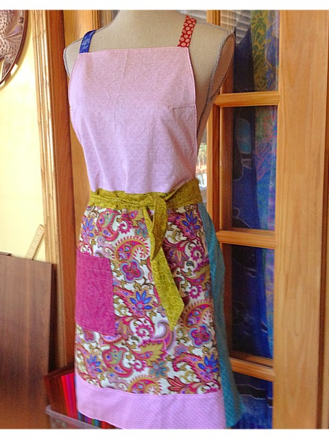 Pink Full-length Apron