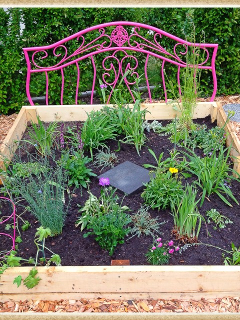Second Flower Bed in Pink