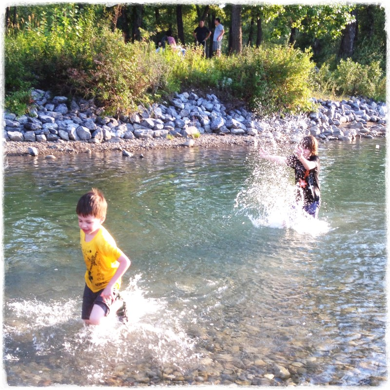 Splashing In The Bow River