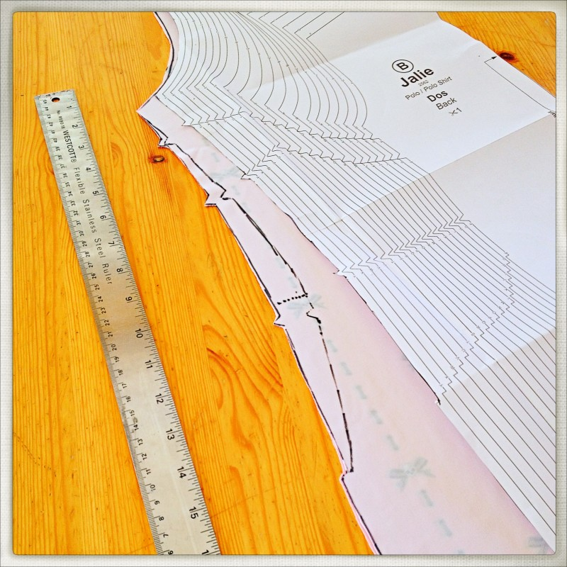 Drawing the Pattern, Waistline Adjustment