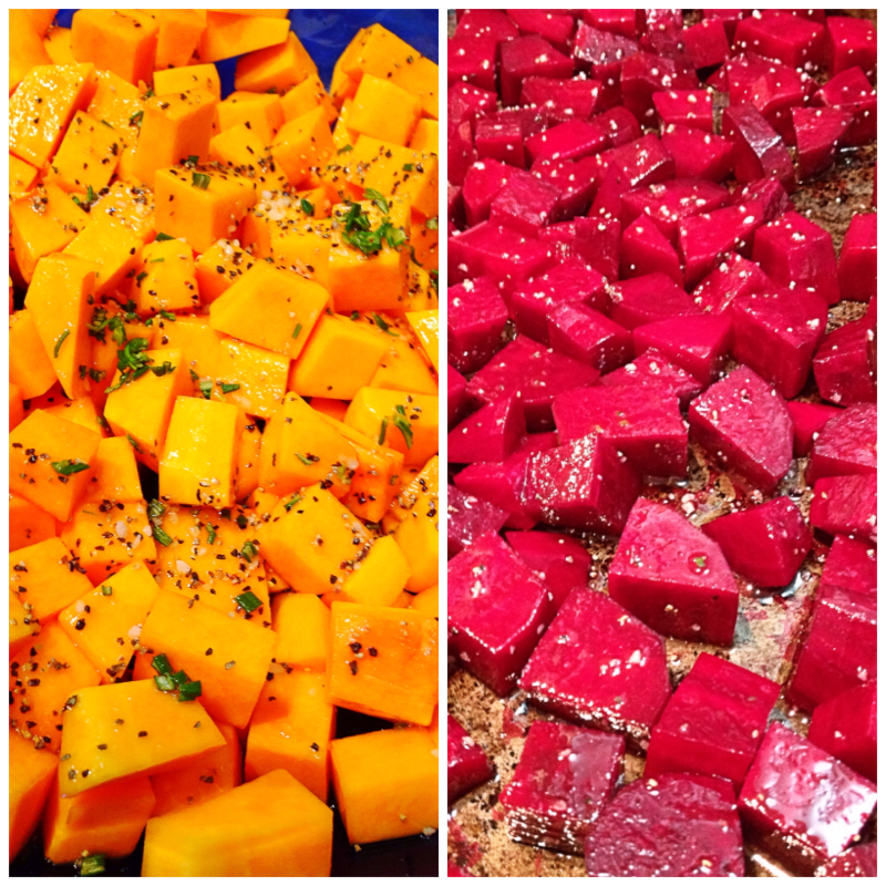 Butternut Squash and Beets for Roasting
