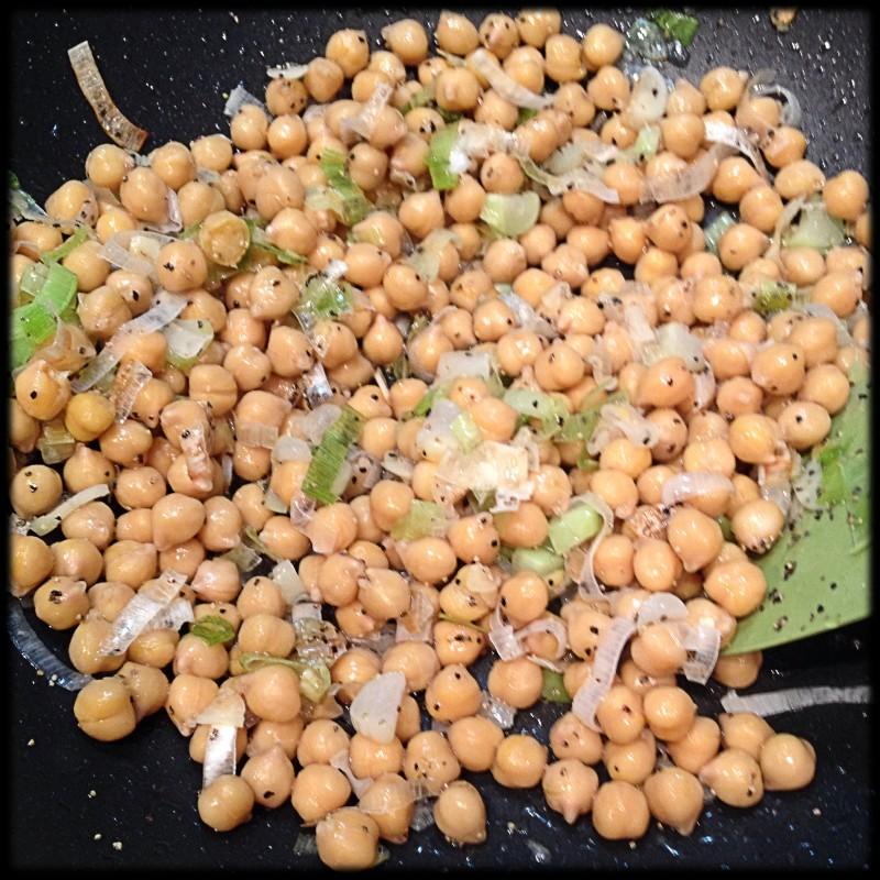Sauteeing Chick Peas