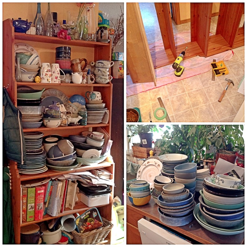 Refitting The Crockery Shelves