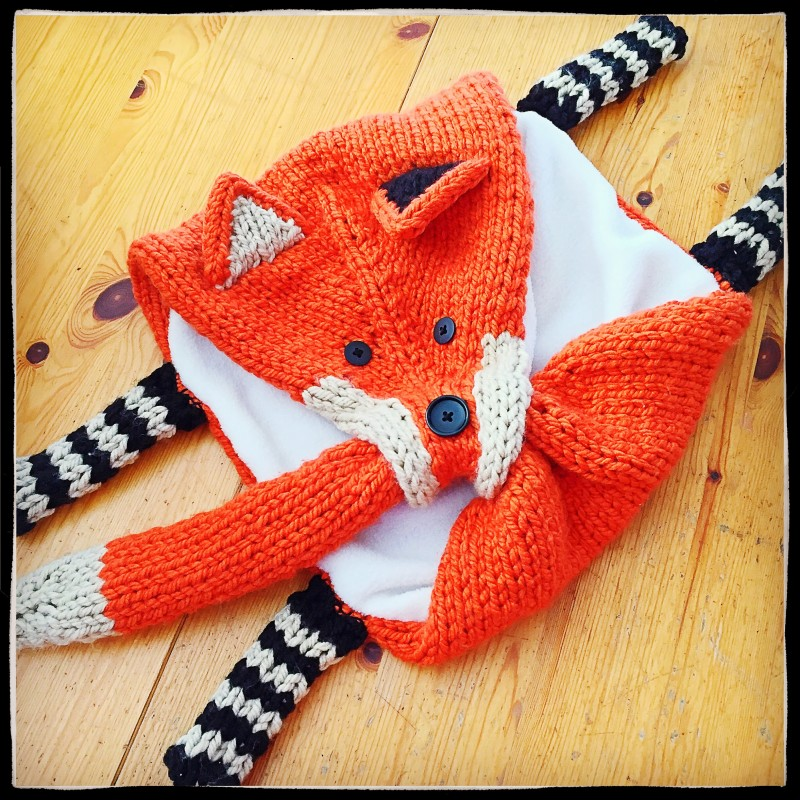 Almost Finished Fox Scarf