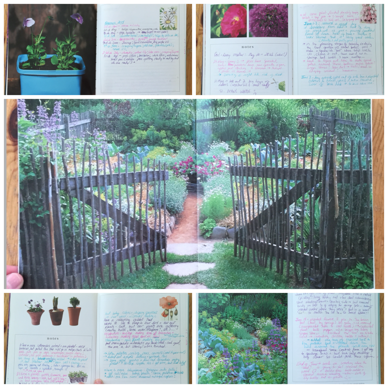 First Garden Journal Page Samples
