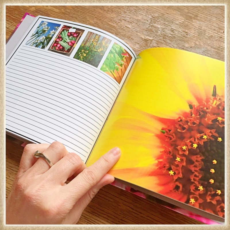 KateWares Garden Journal Sunflower Page